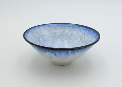 C13 雪結晶釉茶碗 青×藍