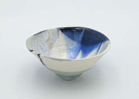 B118 色彩結晶釉茶碗 青×緑