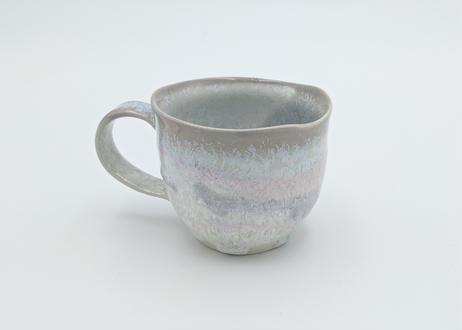 C17 雪結晶釉マグカップ 紫×ピンク