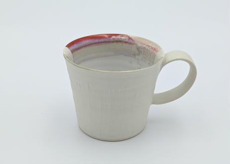 色彩結晶釉マグカップ 赤