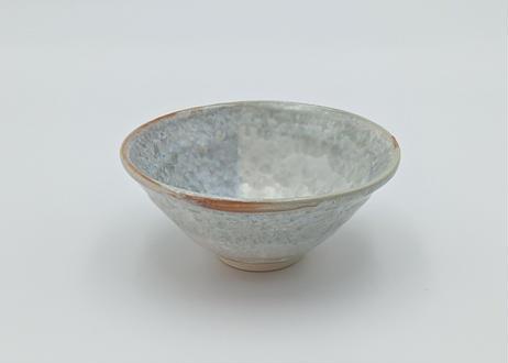 B22 雪結晶釉 茶碗 緑×紫