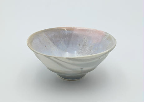 B103 色彩結晶釉茶碗 ピンク×紫