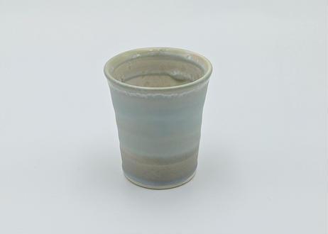 B38 色彩結晶釉ゆのみ ブルーグレー