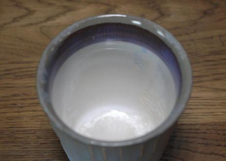 A45 色彩結晶釉ゆのみ 茶グレー