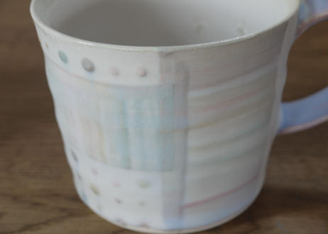 A53色彩結晶釉マグカップ手紫