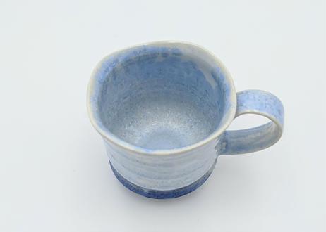 C15 雪結晶釉マグカップ 青×藍