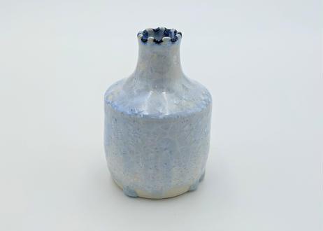 C1 雪結晶花器 青