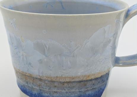 B14 雪結晶釉 マグカップ 青