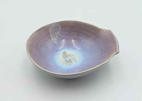 B75 色彩結晶釉変形小鉢 紫