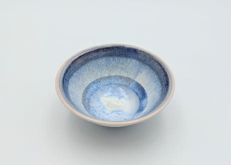 B131 色彩結晶釉茶碗 ピンク×紫