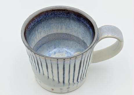 B12 色彩結晶釉 マグカップ 紫