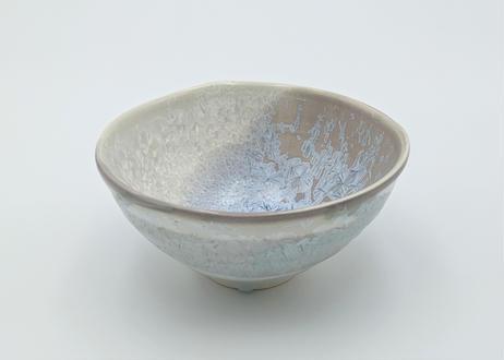 B115 雪結晶釉小丼 白×紫
