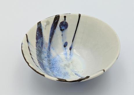 B31 色彩結晶釉 茶碗 本黒ながし