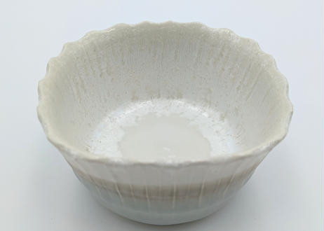 B111 色彩結晶釉角鉢 白