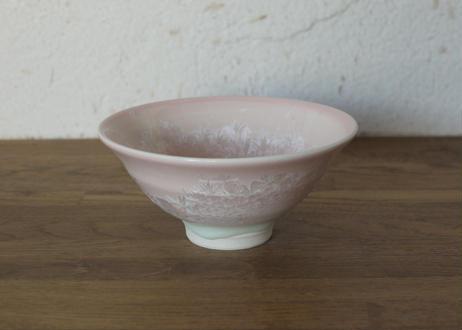A22 雪結晶茶碗 桃