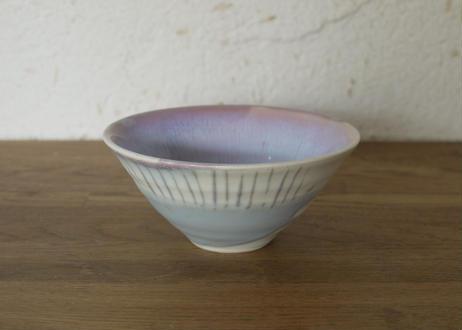 A69色彩結晶釉茶碗紫ドット