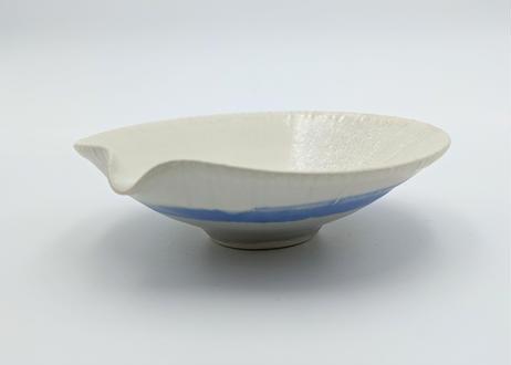 C4 色彩結晶釉片口鉢 白×青