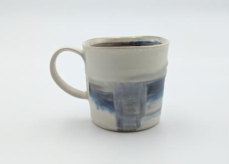 B88 色彩結晶釉マグカップ 藍×ブルー