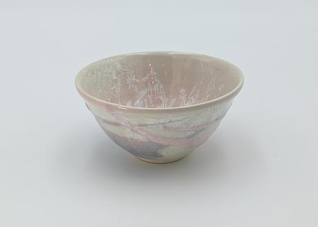 B23 雪結晶釉 茶碗 ピンク×紫