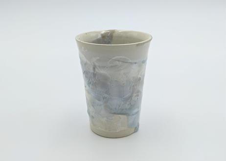 C9 雪結晶釉フリーカップ 白×青
