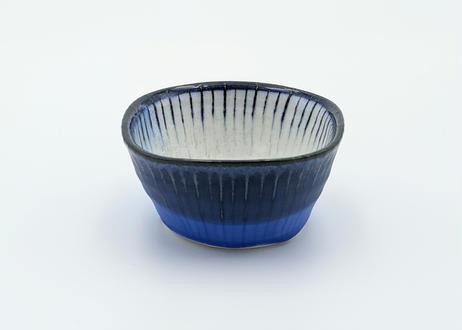 B110 色彩結晶釉角鉢 藍
