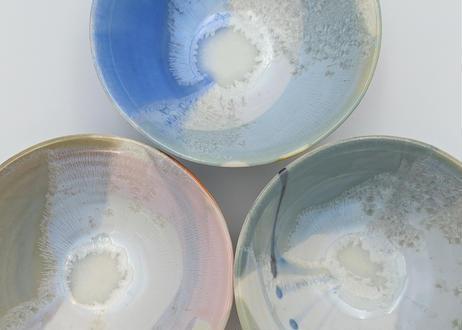 B33 色彩結晶釉 茶碗 青ながし