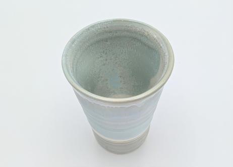 C11 色彩結晶釉フリーカップ ブルー×グレー