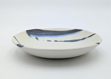 雪釉鉢 藍