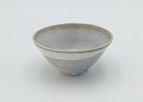 B24 雪結晶釉 茶碗 茶×グレー