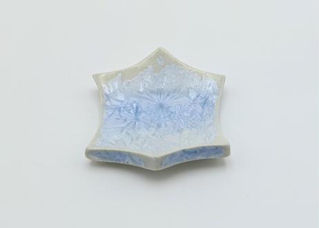 雪結晶釉はしおき 青 2個セット