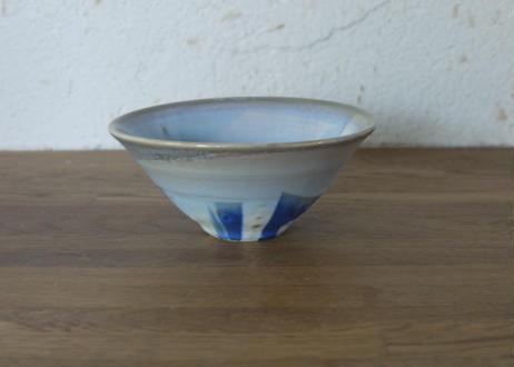 A80色彩結晶釉茶碗 藍グレー