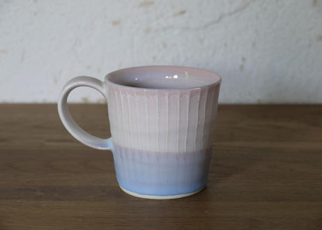 A106色彩結晶釉マグカップsmall桃