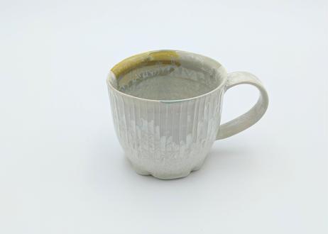 C16 雪結晶釉マグカップ 黄