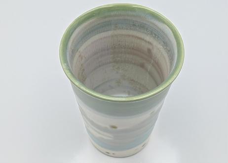 B5 色彩結晶釉 フリーカップ 緑