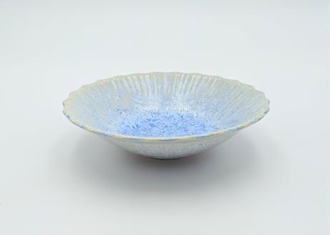 B112 雪結晶釉丸鉢 青