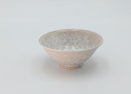 B20 雪結晶釉 茶碗 ピンク
