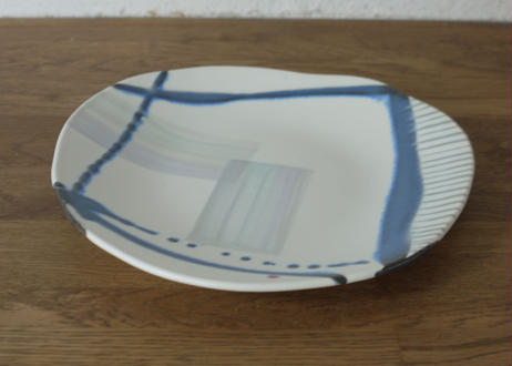 A65色彩釉マット平皿