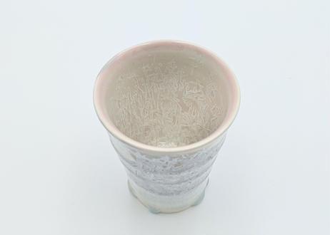 C10 雪結晶釉フリーカップ ピンク×紫