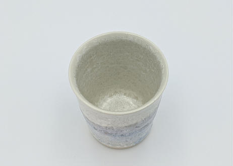 B18 雪結晶釉 フリーカップ 紫ながし