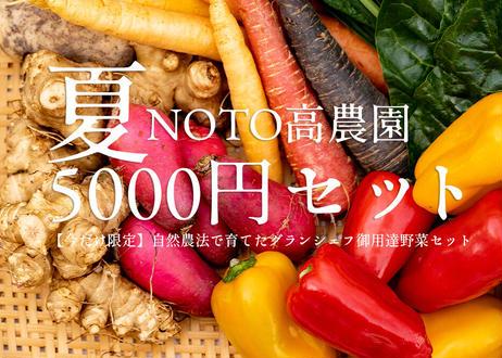 【期間限定】NOTO高農園 グランシェフ御用達の夏野菜 5000円セット(税込・送料別)