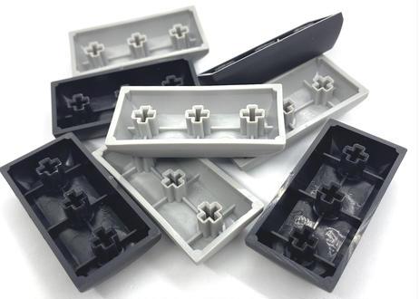 TEX ADA 2Uブランクキーキャップ (1個/ABSブラック/PBTグレー)