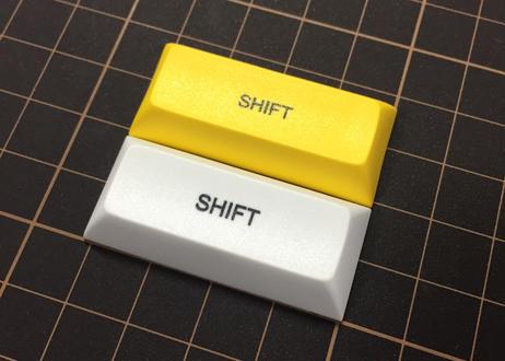 DSA PBT キーキャップ (1個/2.25U/SHIFT/イエロー/ホワイト)