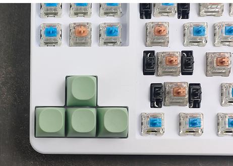 IDOBAO MA PBT ブランクキーキャップ(アップルグリーン/2個)
