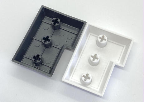 DSA PBT ブランク キーキャップ  (1個/ISO-ENTER/ホワイト/ブラック)