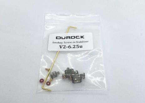 DUROCK 6.25U V2 PCBマウント スタビライザー(スモーキー/ゴールド)