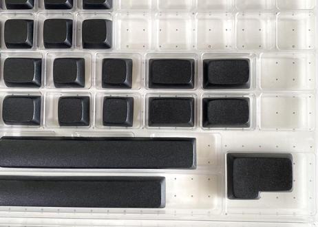KBDfans NP PBT ブランク キーキャップセット(124キー/ブラック)