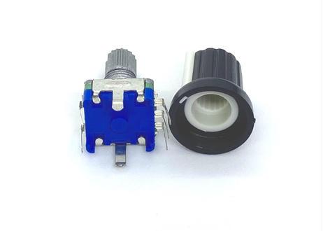 ロータリーエンコーダ EC11互換(ローレット/ツマミ付/1個)V2