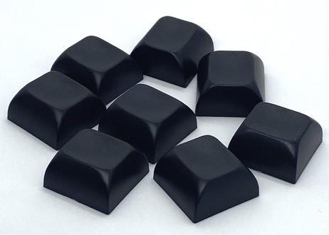 TEX ADA ABS 0.8Uブランクキーキャップ (2個/ブラック)