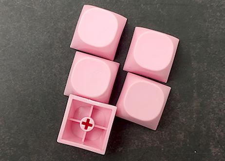 IDOBAO MA PBT ブランクキーキャップ(ピンク/2個)
