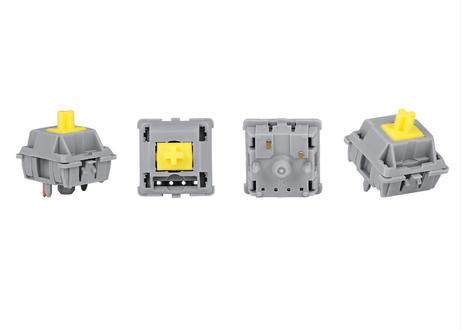 DUROCK POM T1 Sunflower タクタイルスイッチ(グレー/イエロー/5ピン/67g/5個)ファクトリールブ済